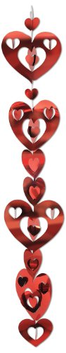 3-D Prismatic Heart Gleam 8216N Garland Party Accessory