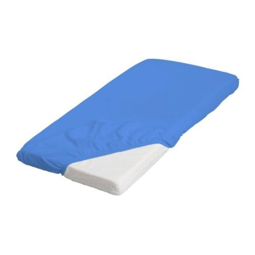 Ikea Len Fitted Sheet, Blue