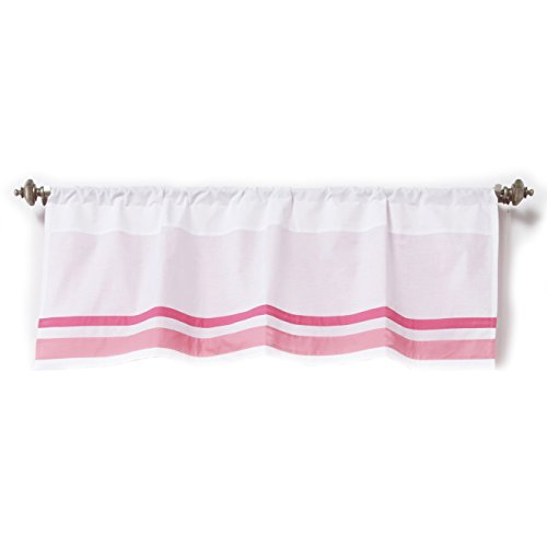 One Grace Place Simplicity Hot Pink Valance, White/Pink