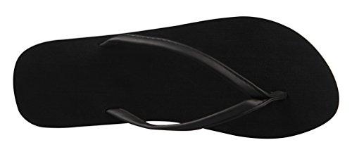 4How Woman Flip Flop Sandal Black US Size 7 M