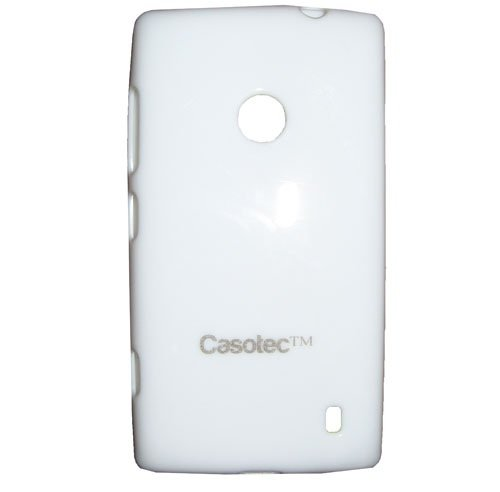 Casotec Soft TPU Back Case Cover for Nokia Lumia 520 - White  available at amazon for Rs.119