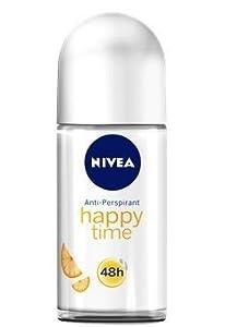Nivea Deodorant Roll-On Happy Time für Frauen 50 ml, 3er Pack (3 x 50 ml)