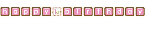 Creative Converting Sweet at One Girls 1st Birthday Felt Letter Banner - 1