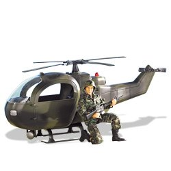 Buy Low Price M & C Toy Power Team Elite: Military Copter with 12″ Action Figure (B0006NDCQA)