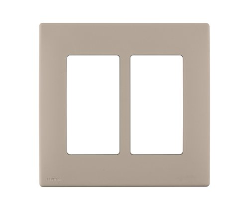 Renu Two-Gang Screwless Snap-On Wallplate, REWP2