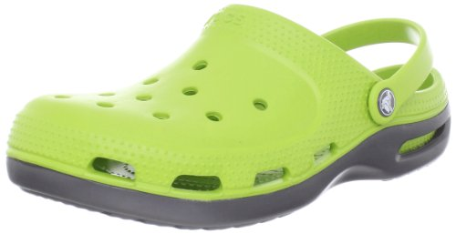 Crocs Unisex - Adult Duet Plus Clogs And Mules Green Grün (Volt Green/Graphite 328) Size: 39/40