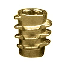 "E-Z Lok Threaded Insert, Zinc, Hex-Flush, 1/4""-20 Internal Threads, 0.512"" Length (Pack of 100)"
