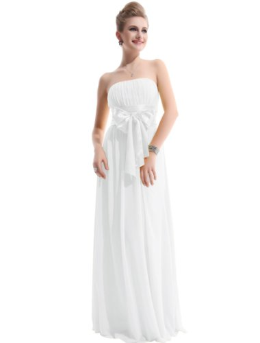 He09060Wh08, White, 6Us,Ever Pretty White Holiday Maxi Dresses For Women 09060