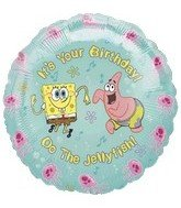 Anagram International 1248601 SpongeBob It's Your Birthday Package Balloon, 18""