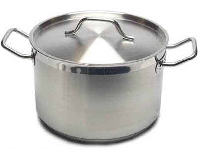 New Professional Commercial Grade 16 QT (Quart) Heavy Gauge Stainless Steel Stock Pot, 3-Ply Clad Base, Induction Ready, With Lid Cover NSF Certified Item