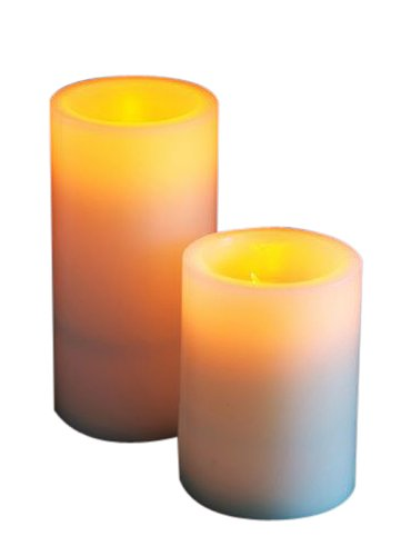 Flicker Flame Electronic Real Wax Led Candle With Blow On And Off Function - Small