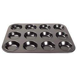 WIN-WARE Non-stick 12 cup mini-muffin tray / pan / tin, carbon steel. 14mm deep.