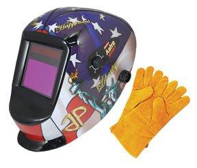 Astro Pneumatic (AST8097SE) Auto-Darkening LVA Welding Helmet with USA Theme