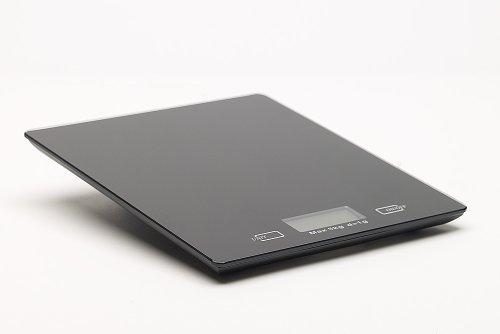 Home Zone DKS-10 Balances de cuisine numériques 5 kg, design plat et moderne - Finition noire