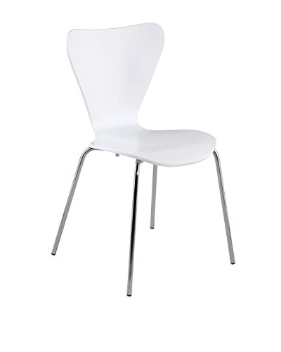 Euro Style Tendy Stack Chair, White