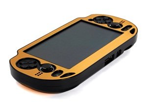 Cosmos ® Gold Aluminum Metallic Protection Hard Case Cover For Playstation Ps Vita & Cosmos Brand Lcd Touch Screen Cleaning Cloth