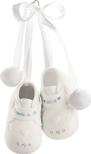 Carlton Heirloom Ornament 2013 Parents to Be – Porcelain Baby Booties – #CXOR006D