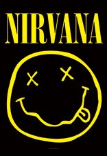 Nirvana Smiley Face Ufficiale Textile poster Bandiera