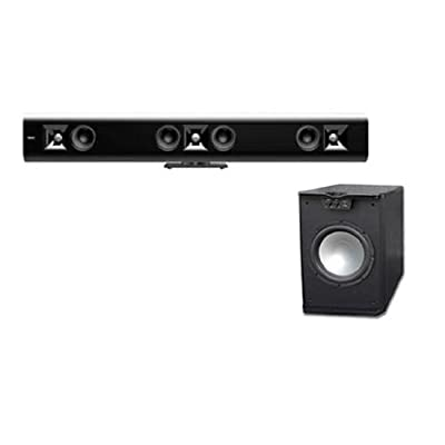 Klipsch Gallery SoundBar G-42 Black with FREE PA-10W 500 WATT Sub by Klipsch
