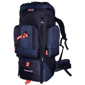 Cuscus 7500Ci 120L Internal Frame Hiking Camp Travel Backpack Navy Black front-1042015
