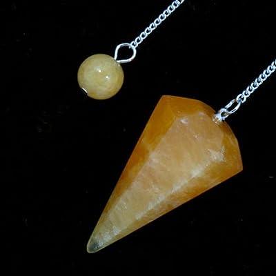Orange Calcite Crystal Pendulum