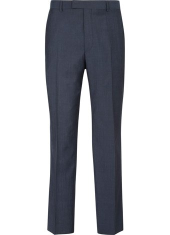 Austin Reed Contemporary Fit Blue Pindot Trousers REGULAR MENS 34