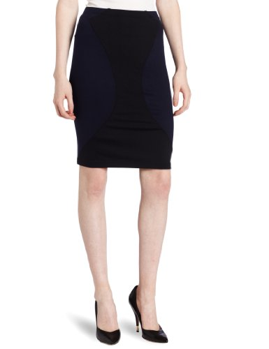 David Lerner Women's Pencil Skirt, Navy/Black, X-Small