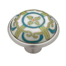 Cloisonne Dynasty White Pewter Cabinet Pull Furniture Pulls Drawer Knobs