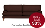 Georgia Large Sofa - Leather