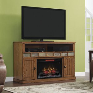 ClassicFlame Margate Infrared Electric Fireplace Media Cabinet in Premium Oak - 26MM1754-O107