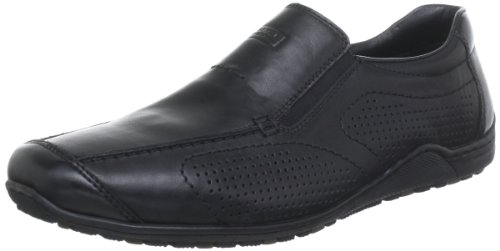 Rieker 08676 Loafers & Mocassins-Men, Herren Slipper, Schwarz (schwarz/nero/00), 43 EU
