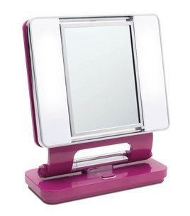 Ott-Lite Natural Daylight Makeup Mirror, Purple/Chrome (26 Watt)