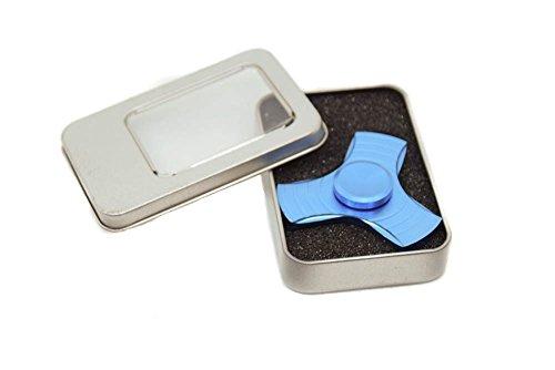 Fidget Finger Spinner Hand Focus Ultimate Spin Aluminum EDC Bearing Stress Toys - Matte Blue