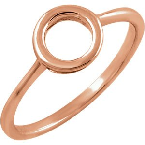 14kt Rose Circle Ring ,Size- 6