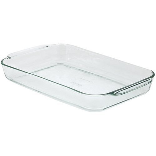 Pyrex Bakeware 4.8 Quart Oblong Baking Dish, Clear