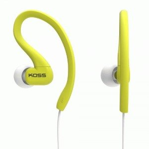 Koss Ksc32L Fitclips Headphones, Lime