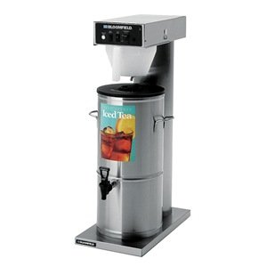 "Bloomfield 8740-3/5G Automatic Iced Tea Brewer, 3/ 5-Gallon, Single, Stainless Steel, 18 3/16"" Depth, 8 1/2"" Width, 34 1/4"" Height"