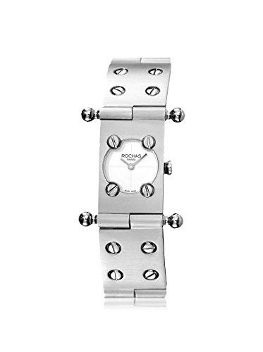 Rochas of Paris Women's RH9052LWWI Silver/White Stainless Steel Watch