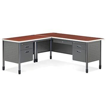 OFM 66366L Executive Series Secretarial Desk with Left Return Color: Cherry