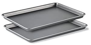 Calphalon Classic Bakeware Special Value 12-by-17-Inch Rectangular Nonstick Jelly Roll Pans, Set of 2