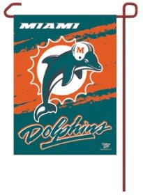 Miami Dolphins Official NFL Garden Flag by Wincraft