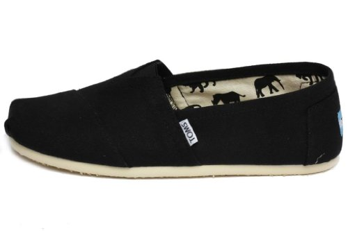 TOMS Men's Classic Canvas Slip-On,Black,10.5 M