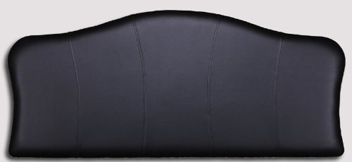 BLACK 6FT SUPER KING SIZE Headboard CROWN FAUX LEATHER WITH STRUTS