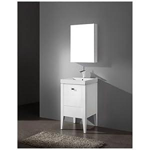 Madeli Andora 20 Inch Bathroom Vanity - Glossy White ...