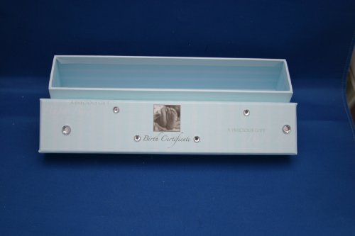 Baby Boy Cardboard Birth Certificate Box Holder New in Box
