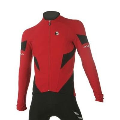 Image of Etxeondo 2008/09 Men's Arrow Cycling Jacket - Red/Black - 36063 (B00206N130)