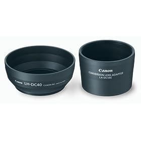 Canon LAH-DC20 Conversion Lens Adapter (LA-DC58E) and Hood (LH-DC40) Set for the S5 IS, S3 IS & S2 IS Digital Camera
