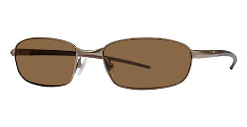Nike 4104 P Sunglasses, EV0447-295, Brushed Maplewood Flexon Frame / Max Brown Polarized Lenses