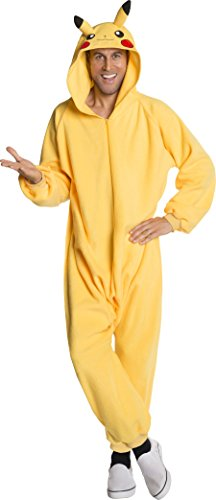 Rubie's Men's Pokemon Pikachu Jumpsuit Costume, Yellow, X-Large