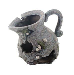 Aquarium fish tank ornament antique vase pot for Fish tank decorations amazon